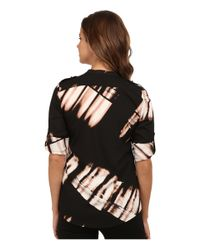 Calvin Klein | Black Print Crew Neck Roll Sleeve | Lyst