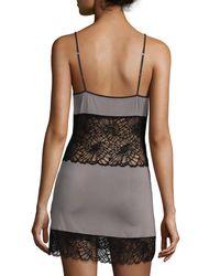 Josie Natori - Black Bardot Lace-trim Chemise - Lyst