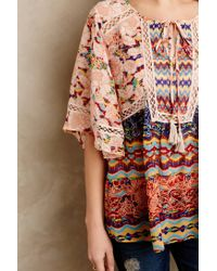 Meadow Rue | Multicolor Prairie Blossom Peasant Blouse | Lyst