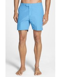 Psycho Bunny | Blue Solid Swim Shorts for Men | Lyst