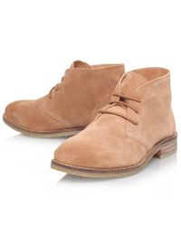 Miss Kg Brown Sandy Suede Ankle Boots