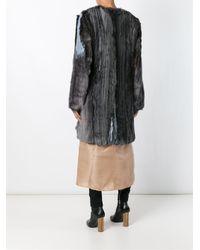 Ter Et Bantine - Black Pleated Fringed Coat - Lyst