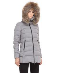 Tatras Gray Elegance-ceramica Down Jacket & Fur Trim