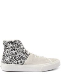 Vans - White And Black Sk8- Hi Tops Decon Suade Shoes for Men - Lyst