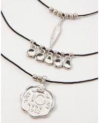 ASOS - Metallic Festival Multi Row Cord Choker Necklace - Lyst