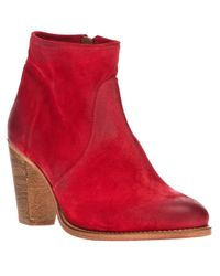 NDC Red Ankle Boot