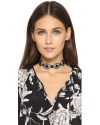 Vanessa Mooney - Black Concho Choker Necklace - Lyst