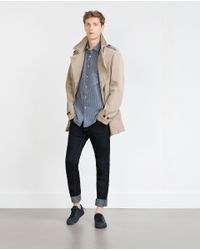 Zara | Blue Striped Shirt for Men | Lyst
