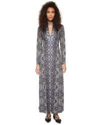 Free People - Gray Cabaret Maxi Dress - Lyst