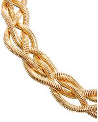 ASOS - Metallic Plaited Chain Choker Necklace - Lyst