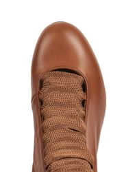Chloé Brown Lace-Up Leather Ankle Boots