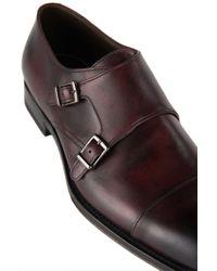 BOSS - Red 't-legom' | Italian Leather Double Monk Strap Dress Shoes for Men - Lyst