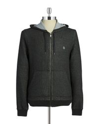 Original Penguin | Gray Zip-front Sweatshirt for Men | Lyst