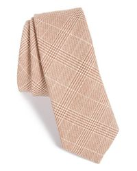 W.r.k. - Brown Plaid Tie for Men - Lyst