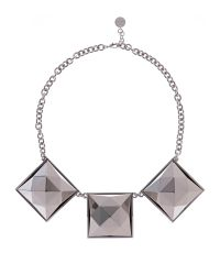 Karen Millen | Metallic Pyramid Stud Necklace | Lyst