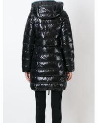 Duvetica - Black Hooded Padded Coat - Lyst