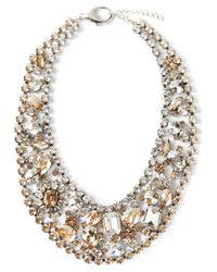Marina Fossati Metallic Crystal Embellished Choker Necklace