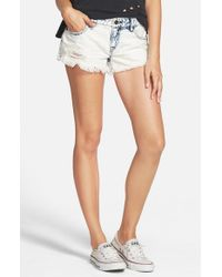 Volcom | Blue 'yae' Cutoff Denim Shorts | Lyst
