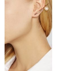 Ryan Storer - Pink Rose Gold-plated Swarovski Pearl Earrings - Lyst