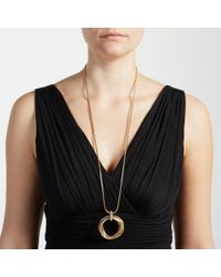 John Lewis | Metallic Paved Multi Hoop Long Necklace | Lyst