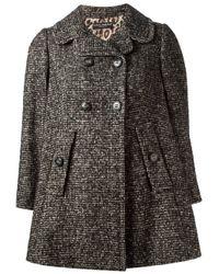 Dolce & Gabbana | Gray Boxy Dogtooth Coat | Lyst