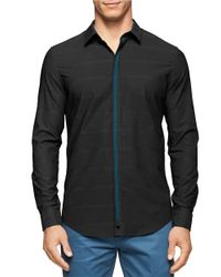Calvin Klein | Black Contrast Trim Sportshirt for Men | Lyst