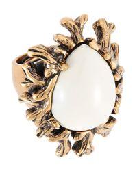 Oscar de la Renta | Metallic Coral Branch Ring | Lyst