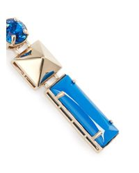 Valentino | Blue Stud Strass Earrings | Lyst
