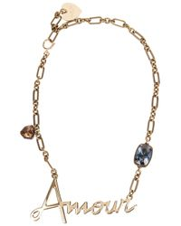 Lanvin | Metallic Amour Crystal-embellished Necklace | Lyst