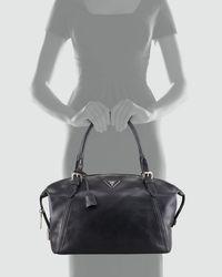 Prada Black Soft Calfskin Duffle Bag
