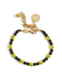 Venessa Arizaga - Yellow 'all Smiles On Me' Faux Pearl Charm Bracelet - Lyst