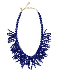 kate spade new york | Blue Fringe Appeal Necklace | Lyst