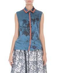 Preen By Thornton Bregazzi - Blue Wyman Floral Shirt - Lyst