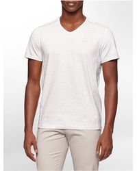 Calvin Klein | White Label Classic Fit Striped V-neck T-shirt for Men | Lyst