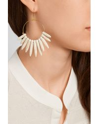 Kenneth Jay Lane - White Gold-Plated Magnesite Spike Earrings - Lyst