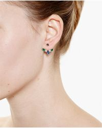 Yvonne Léon | Blue 18k Gold And Marquise Sapphire Lobe Earring | Lyst