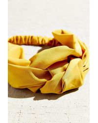 Urban Outfitters Yellow Sienna Knotted Silk Headwrap