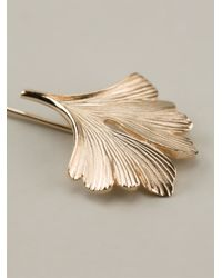 Lanvin Metallic Leaf Pin