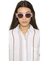 Marc By Marc Jacobs Transparent Top Sunglasses - White/green Photocro