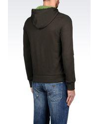 Armani Jeans | Green Full Zip Sweatshirt With Hood for Men | Lyst