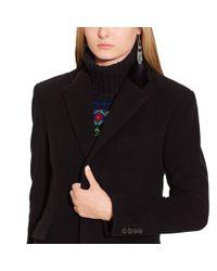 Polo Ralph Lauren Black Merino Wool Long Cable Cardigan