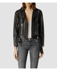 AllSaints | Black Kit Biker Sweat Usa Usa | Lyst