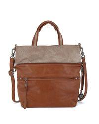 The Sak Brown Brea Convertible Leather Tote
