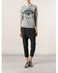 KENZO Gray 'Eye' Sweatshirt
