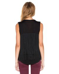 Generation Love - Black Liam Fringe Tank - Lyst