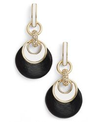 Alexis Bittar | Black 'lucite' Encrusted Link Drop Earrings | Lyst