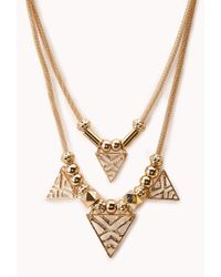 Forever 21 Metallic Forever Cool Cut-out Necklace