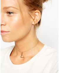 ASOS - Pink Open Triangle Choker Necklace - Lyst