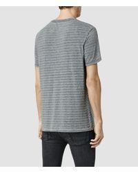 AllSaints - Gray Devire Crew T-shirt for Men - Lyst