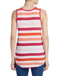 Lord & Taylor   Pink Striped Tank Top   Lyst